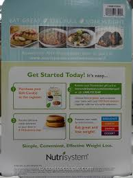 gift cards nutrisystem costco 2