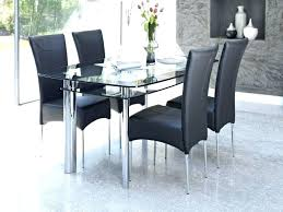 glass dining room tables and chairs compact table top sets uk d