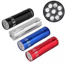 Đèn pin LED mini 9 bóng siêu sáng bằng nhôm - Đèn pin mini - Đèn pin cầm  tay bỏ túi