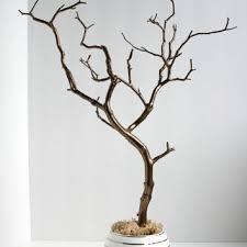 Jewelry Holder Organizer Tree Bronze and White 18