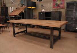 Industrial Style Kitchen Table Large Dining Room Table For Sale Euskalnet