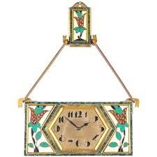 wall clock art deco very unusual and rative art wall clock circa signed wall art clock