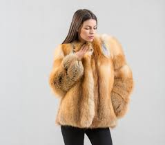 fox fur jacket real fox fur jacket