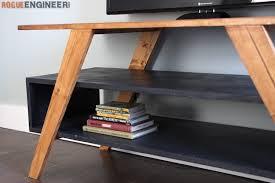 mid century modern media console rogue engineer pertaining to diy decor 18 mid century furniture diy r60 mid