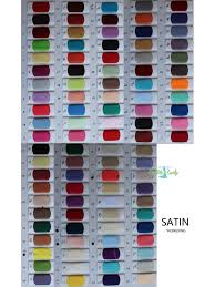 Color Swatches Color Chart Real Color Samples Of Chiffon