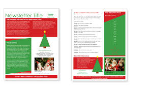 Holiday Newsletter Template Custom Holiday Newsletter Templates Microsoft Hiyaablog