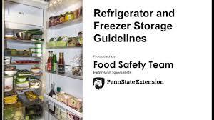 Servsafe Refrigerator Storage Chart Refrigerator And Freezer Storage Guidelines