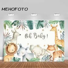<b>MEHOFOTO</b> Safari Animals <b>Baby Shower Backdrop</b> Jungle Safari ...