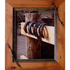 barn wood picture frames. Western Frames-20x24 Wood Frame With Barbed Wire - Sagebrush Series [HC-20x24-SSBW] : MyBarnwoodFrames.com   Barnwood Frames, Rustic Picture Barn Frames