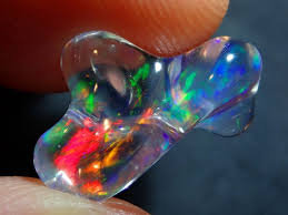 4.34ct Mexican Water Opal Bright Carved | Rough opal jewelry, Fire ...