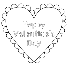 Small Picture Heart Happy Valentines Day Coloring Page Valentines Day