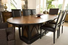 Modern Wood Dining Room Table - Black oval dining room table