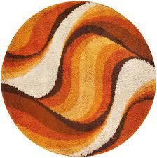 incredible large round rugs vintage swedish deco round rug verner panton 46612 nazmiyal
