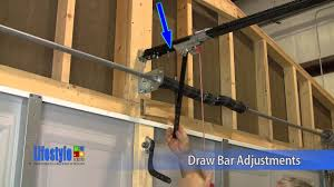 lifestyle screens garage door adjustments opener draw bar and back hang