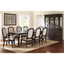 dining table hutch. steve silver cayden 9 piece dining table set with optional buffet \u0026 hutch - distressed black walnut | hayneedle