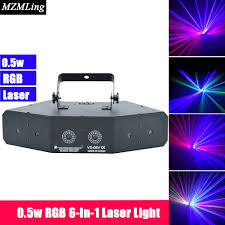 Laser Light Party Machine Us 155 0 0 5w Rgb 6 In 1 Laser Light Dmx512 Stage Laser Light Dj Bar Party Show Stage Light Led Stage Machine In Stage Lighting Effect From