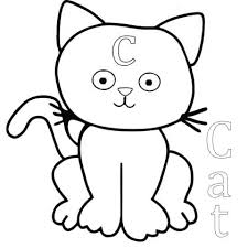 Cute Cat Coloring Pages To Print Cute Kitten Colouring Pages To