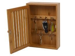 bamboo wall mounted key box brackets cupboard hooks