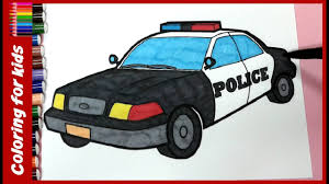 Quality Police Car Coloring Pages Colouring For Children How To Color