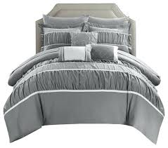 10 piece bedding set piece comforter set transitional comforters and comforter sets by chic home babyfad 10 piece bedding set