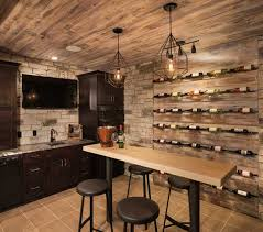 tasting room with wine storage and a wet bar