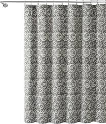 gray white ikat fl geometric 100 cotton fabric shower curtain contemporary shower curtains by curtain call