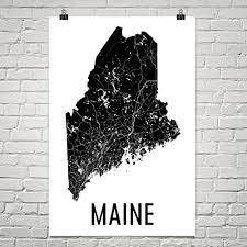 Each print features an original design consisting of a maine state silhouette and flag graphic superimposed over a page from the maine entry in the 1904 Amazon Com Maine Gifts Maine Art Maine Map Maine Decor Maine Wall Art Maine Print Maine Made Maine Poster Map Of Maine Poster 24 X36 Posters Prints