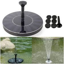 7v 1 4w solar floating mini fountain with brushless water pump for garden landscape decoration