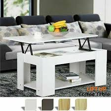 wooden coffee table with storage lift