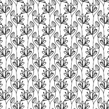 ベクターのシームレスなパターン直線的なグラフィック デザイン花の
