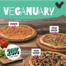 20% Rabatt auf vegane Pizzas bei Dominos - Preispirat