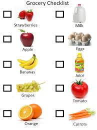 grocery checklist toddler grocery checklist updated toddler activities games crafts