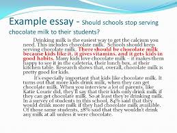 do now should students have to wear school uniforms explain your  example essay should schools stop serving chocolate milk to their students