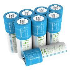 Amazoncom KINSUN 8Pack Rechargeable Batteries 12V NiCd AA Solar Garden Lights Batteries Rechargeable