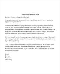 Recommendation Letter Format For Students Scholarship Recommendation