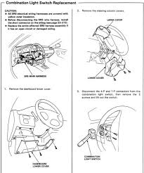 diy combination switch fix headlight switch and wiper combo step 2 in manual image 2 turn the steering wheel so that you can remove the two screws holding the combination switch in then unplug the two plugs to