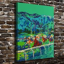 a1823 leroy neiman colorful abstract horse racing hd canvas print home decoration living room wall