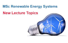 new lecture topics on renewable energy special alumni offer