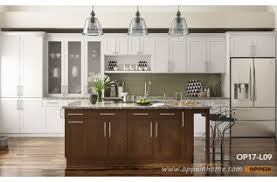 home kitchen furniture. Shaker Style Straight Line Kitchen With Island OP17-L09 Home Kitchen Furniture A