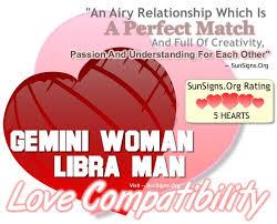 Libra Relationship Compatibility Chart Gemini Woman Libra Man The Perfect Passionate Match