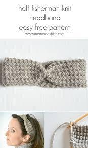 Easy Crochet Headband Pattern Free Beauteous Half Fisherman Knit Headband Downton Abbey Yarn Mama In A Stitch