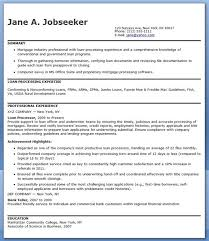 Mortgage Loan Processor Resume Templates Cover Letter For