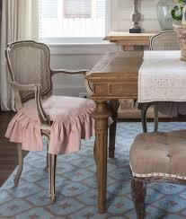 french dining room chair slipcovers. Pink Slipcovered French Chair Dining Room Slipcovers G