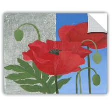 poppy wall decal poppy wall decals ikea red poppy wall decals
