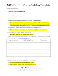 Course Proposal Template Course Syllabus Template 1