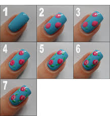 nail designs step by step simple Images For Simple Flower Nail Art ...