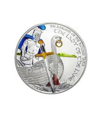 lady of lake knights of round table silver coin 5 cook islands 2009