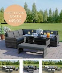rattan garden furniture corner sofa