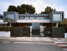 modern metal fence design. Incredible Modern Luxury Gate With Architecture Exterior Design Dark Grey Metal Fence Of Pictures