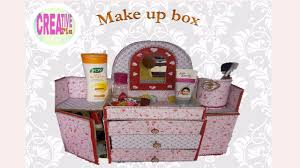 how to make makeup box from old sweet box